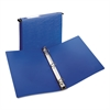 "Hanging Storage Binder with Gap Free Round Rings, 11 x 8 1/2, 1"" Capacity, Blue"