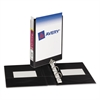 "Avery Mini Size Durable View Binder w/Round Rings, 8 1/2 x 5 1/2, 1"" Cap, Black"