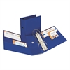 "Avery Durable Binder with Two Booster EZD Rings, 11 x 8 1/2, 5"", Blue"