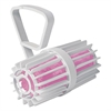 Toilet Rim Cage with Non-Para Block, White/Pink, Cherry, 12 per Carton