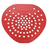 "Urinal Screen, 7 3/4""w x 6 7/8""h, Red, Cherry, Dozen"