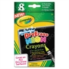 Crayola Washable Dry Erase Crayons w/E-Z Erase Cloth, Assorted Neon Colors, 8/Pack