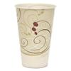Symphony Treated-Paper Cold Cups, 12oz, White/Beige/Red, 100/Bag, 20 Bags/Carton