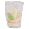 SOLO Cup Company Bare Wrapped RPET Cold Cups, 9oz, Clear With Leaf Design, 500/Carton