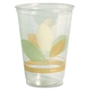 Bare RPET Cold Cups, 9oz, Clear With Leaf Design, 50/Bag, 20 Bags/Carton