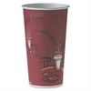 SOLO Cup Company Polycoated Hot Paper Cups, 20 oz, Bistro Design, 600/Carton
