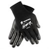 Memphis Ninja x Bi-Polymer Coated Gloves, Large, Black, Pair