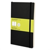 Classic Softcover Notebook, Plain, 8 1/4 x 5, Black Cover, 192 Sheets