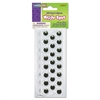 Creativity Street Peel 'N Stick Wiggle Eyes, Assorted Sizes, Black, 125/Pack