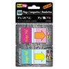 "Redi-Tag Pop-Up Fab Page Flags w/Dispenser, ""Sign Me!"", Red/Orange, Teal/Yellow, 100/Pack"