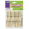 Creativity Street Wood Spring Clothespins, 3 3/8 Length, 50 Clothespins/Pack