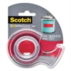 "Scotch Expressions Magic Tape w/Dispenser, 3/4"" x 300"", Red"