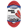 Vinyl Indoor-Outdoor Extension Cord, 50ft, Red