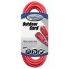 CCI Vinyl Outdoor Extension Cord, 25ft, 15 Amp, Red