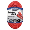 Vinyl Outdoor Extension Cord, 100ft, 13 Amp, Red