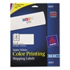 Avery Vibrant Color-Printing Shipping Labels, 2 x 4, Matte White, 200/Pack