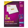Avery Foil Mailing Labels, 3/4 x 2 1/4, Gold, 300/Pack