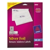 Foil Mailing Labels, 3/4 x 2 1/4, Silver, 300/Pack