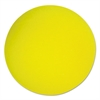 "Uncoated Regular-Density Foam Balls, 7"" Diameter, Yellow"