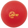 "Champion Sports Playground Ball, 10"" Diameter, Red"