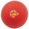 "Champion Sports Playground Ball, 7"" Diameter, Red"