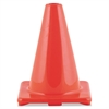 "Hi-Visibility Vinyl Cones, 6"" Tall, Orange"