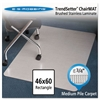 Stainless 60x46 Rectangle Chair Mat, Design Series for Carpet up to 3/4""