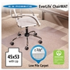 ES Robbins 45x53 Lip Chair Mat, Multi-Task Series AnchorBar for Carpet up to 3/8""