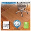 ES Robbins 46x60 Rectangle Chair Mat, Economy Series for Hard Floors