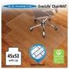 ES Robbins 45x53 Lip Chair Mat, Economy Series for Hard Floors