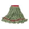 Rubbermaid Commercial Swinger Loop Wet Mop Heads, Large, Green, Cotton/Synthetic Blend, , 6/Carton