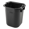 Rubbermaid Commercial Executive Heavy Duty Pail, Black, Plastic, 5 Quarts, 9.3 w x 7.5 d x 8.5 h