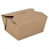 ChampPak Retro Carryout Boxes, Kraft, 4-3/8 x 3-1/2 x 2 1/2, Brown