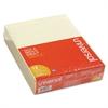 Universal Glue Top Writing Pads, Narrow Rule, Ltr, Canary, 50 Sheet Pads/Pack, Dozen