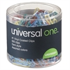 Universal Vinyl-Coated Wire Paper Clips, No. 1, Assorted Colors, 500/Pack