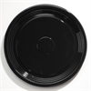 "WNA Caterline Casuals Thermoformed Platters, PET, Black, 18"" Diameter"