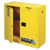Justrite Sure-Grip EX Standard Safety Cabinet, 43w x 18d x 44h, Yellow