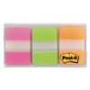 Post-it File Tabs, 1 x 1 1/2, Assorted Brights, 66/Pack