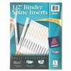 "Avery Binder Spine Inserts, 1/2"" Spine Width, 16 Inserts/Sheet, 5 Sheets/Pack"