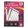 "Avery Binder Spine Inserts, 1"" Spine Width, 8 Inserts/Sheet, 5 Sheets/Pack"