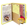 Smead Pressboard Folders with Two Pocket Dividers, Letter, Six-Section, Yellow, 10/Box