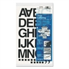 "Chartpak Press-On Vinyl Letters & Numbers, Self Adhesive, Black, 1 1/2""h, 37/Pack"