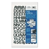 "Chartpak Press-On Vinyl Letters & Numbers, Self Adhesive, Black, 3/4""h, 94/Pack"