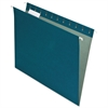 Earthwise Recycled Hanging File Folders, 1/5 Tab, Letter, Blue, 25/Box