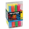 HI-LITER Fluorescent Desk Style Highlighters, Chisel Tip, Assorted Colors, 12/Set