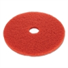 "Floor Buffing Pad, 19"" Diameter, Red, 5/Carton"