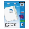 Avery Insertable Big Tab Dividers, 8-Tab, 11 1/8 x 9 1/4