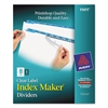 Print & Apply Clear Label Dividers w/Color Tabs, 8-Tab, Letter, 5 Sets