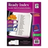 Ready Index Customizable Table of Contents Black & White Dividers, 31-Tab, Ltr