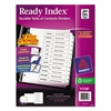 Ready Index Customizable Table of Contents Black & White Dividers, 12-Tab, Ltr